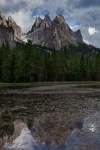 lake, dolomites, mountains, reflection, rugged, italy, 2011, Italy, photo
