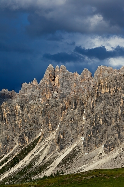 storm, dolomites, mountains, clouds, light, passo giao, passo, rugged, italy, 2011, photo