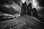 mountain, dolomites, storm, clouds, bnw, italy, 2011, Italy, photo