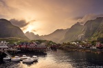 harbour, fischer hut, rorbuers, ocean, golden hour, sunbeams, sunset, rugged, mountains, norway, 2017