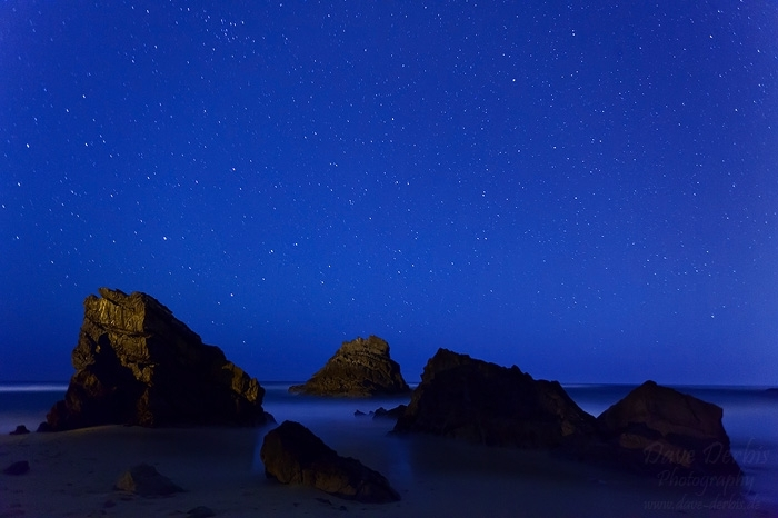 night, beach, rugged, twilight, coast, ocean, atlantic, stone, rocks, star, 2012, portugal, photo