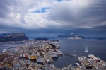 norway, city, harbour, alesund, winter, snow, hurtigruten, photo