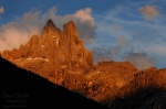 alpenglow, mountain, sunset, rugged, pale di san martino, san martino, dolomites, italy, 2011, Italy, photo