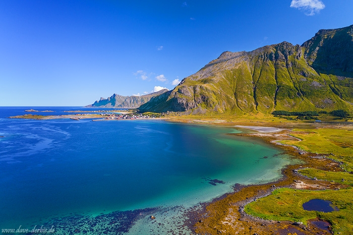 arctic, bay, ocean, mountains, drone, coast, lofoten, norway, summer, 2017, photo