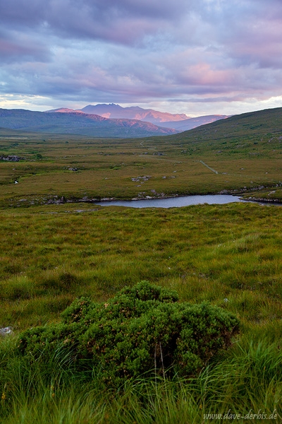 sunset, mountain, highlands, summer, scotland, 2014, photo