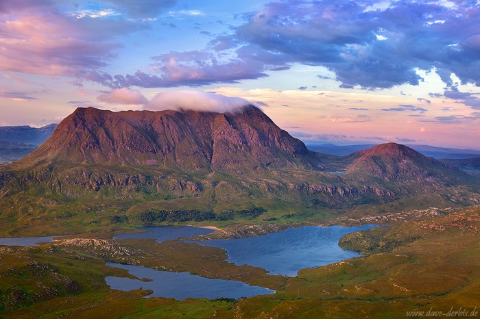 latest, sunset, mountain, view, lake, alpenglow, highlands, clouds, scotland, 2014, photo