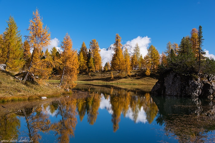 lake, reflection, autumn, fall, trees, mountains, alpes, dolomites, italy, 2015, photo