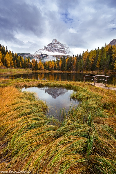 fall, autumn, mountains, winter, snow, reflection, lake, alpes, dolomites, italy, 2015, latest, photo