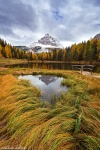 fall, autumn, mountains, winter, snow, reflection, lake, alpes, dolomites, italy, 2015, latest, Best Landscape Photos of 2015, photo