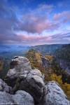 autumn, foliage, mountains, forest, saxon switzerland, germany, 2016, photo