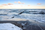 sunrise, baltic sea, winter, snow, beach, ocean, coast, germany, 2015, latest, photo