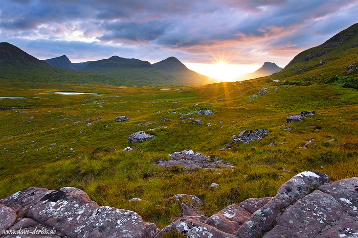 sunset, valley, mountain, sunstar, remote, scotland, 2014, photo