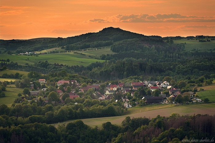 sunset, golden hour, moutains, village, saxon switzerland, bohemian, germany, 2020, photo