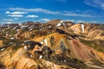 landmannalaugar, mountains, golden hour, volcano, rhyolite, volcanic, iceland, 2017, Iceland, photo