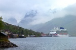 fjord, mountain, rain, ship, norway, 2015, photo