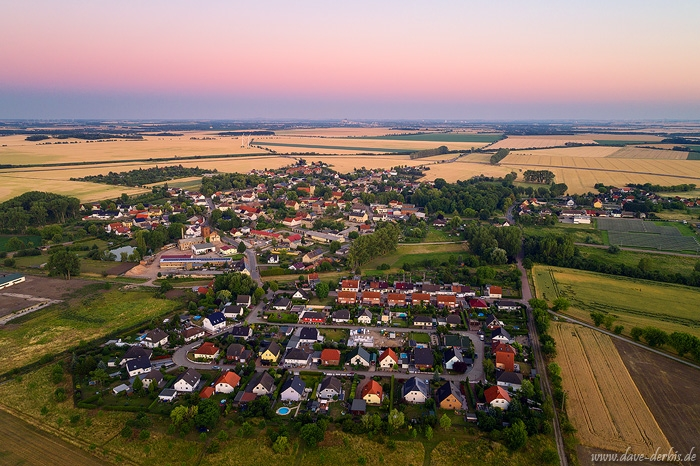 aerial, drone, brumby, sunset, summer, from above, germany, 2019, photo