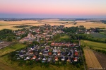 aerial, drone, brumby, sunset, summer, from above, germany, 2019, Rural Germany, photo