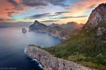 sunrise, cap, sea, coast, mountain, morning, mallorca, spain, 2011