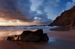 sunset, beach, rugged, twilight, coast, ocean, atlantic, stone, wild, cliff, 2012, portugal, Best Landscape Photos of 2012, photo