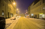 cold, winter, blue hour, roadshot, lonely, leipzig, lindenau, snow, photo