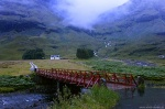 highlands, mountains, waterfall, stream, bridge, blue hour, scotland, 2014, photo