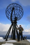 norway, mountains, person, selfie, north cape, photo