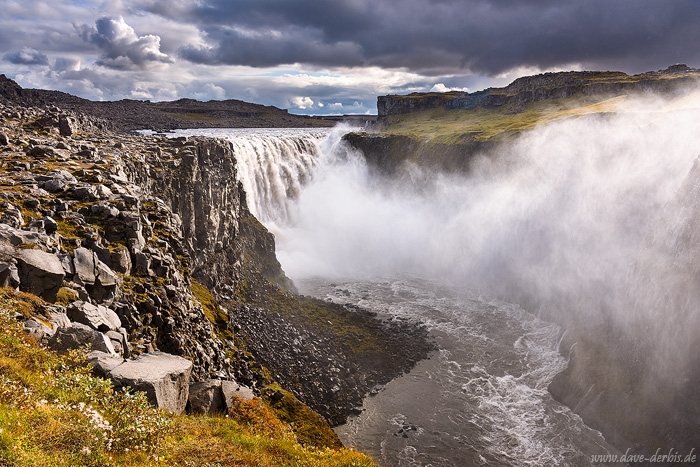 waterfall, falls, highlands, dettifoss, river, spray, fog, iceland, 2016, photo