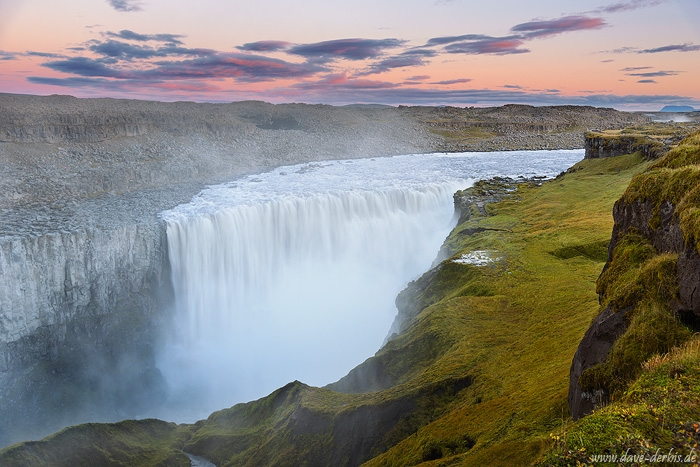 waterfall, falls, highlands, dettifoss, sunset, fog, iceland, 2016, photo