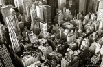 manhattan, downtown, new york city, skyscrapers, new york, nyc, usa, bnw, photo