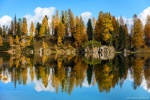 latest, lake, mountain, reflection, trees, autumn, italy, 2015, Italy, photo