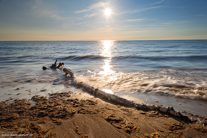 sunset, sunstar, golden hour, beach, coast, summer, baltic sea, germany, 2016, photo
