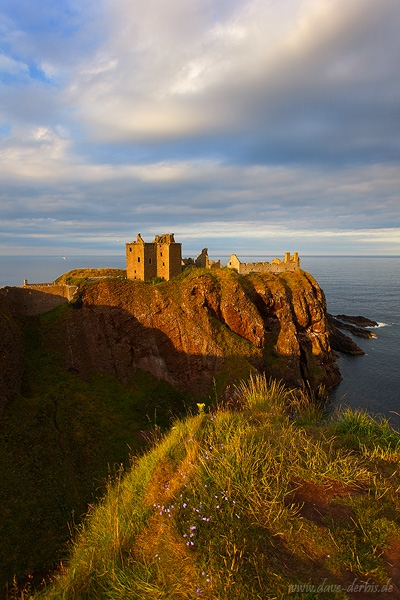 castle, highlands, sunset, cliff, clouds, scotland, 2014, photo