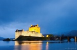 castle, highlands, blue hour, fjord, coast, mountain, scotland, 2014, photo
