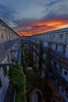 sunset, leipzig, loft, elsterloft, germany, 2012, photo