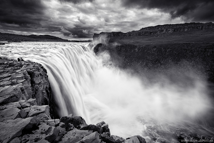 waterfall, falls, highlands, dettifoss, river, spray, fog, bnw, iceland, 2016, photo