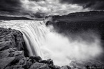 waterfall, falls, highlands, dettifoss, river, spray, fog, bnw, iceland, 2016, Iceland, photo