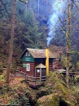 autumn, fall, forest, hut, house, bohemian switzerland, czech republic, 2019, photo