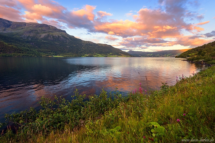 fjord, lake, mountains, reflection, summer, fischerman, sunset, norway, 2017, photo