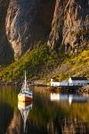 fjord, reflection, boar, mountain, fishing, harbour, lofoten, norway, 2013, photo