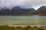 bay, mountain, clouds, rain, lofoten, norway, 2013, photo