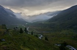 mountain, valles, sunset, fog, rain, clouds, mist, pass, swiss, 2012, photo