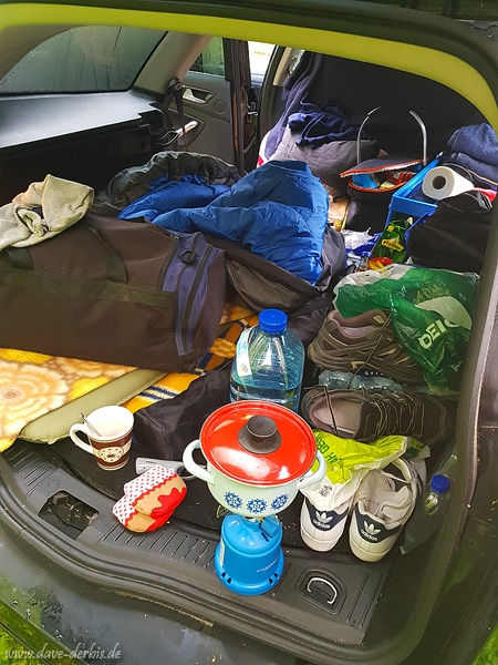 ford, mondeo, trunk, car, camping, germany, 2018, photo