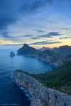 sunrise, blue hour, sea, coast, mountain, morning, mallorca, spain, 2016, Spain, photo