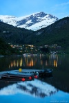 night, lake, fjord, reflection, mountains, snow, norway, 2025, photo
