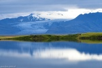 glacier, reflection, lake, mountains, blue hour, rain, iceland, 2016, Iceland, photo