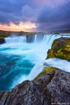 sunset, waterfall, falls, cliff, long exposure, iceland, 2016, Best Landscape Photos of 2016, photo