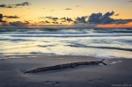 sunset, golden hour, beach, sand, driftwood, coast, baltic sea, weststrand, germany, 2020, photo