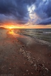 sunset, golden hour, baltic sea, sun, beach, zingst, germany, 2020, photo
