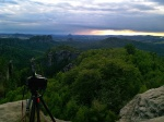greetings from, mountain, forest, summer, view, saxon-switzerland, germany, 2014, photo