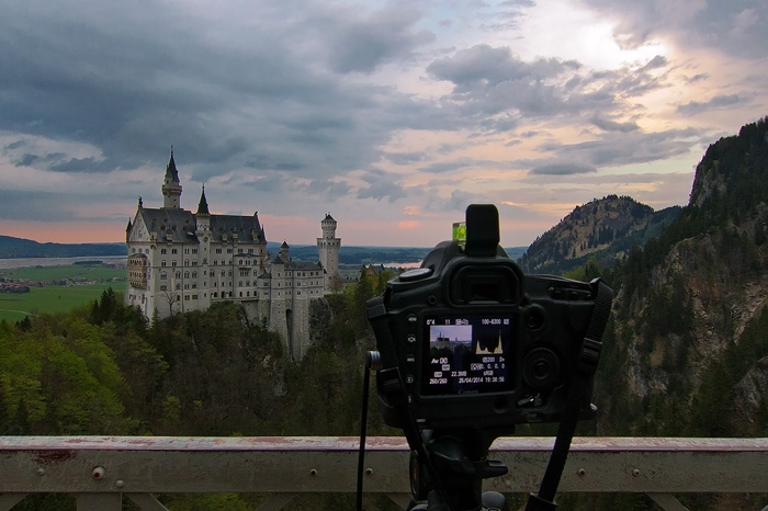 greetings, from, shooting, bavaria, sunset, germany, 2014, photo